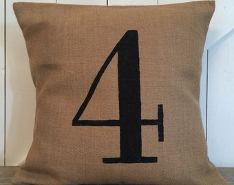 Custom number pillow, Family number pillow, Favorite number pillow, Jersey number pillow