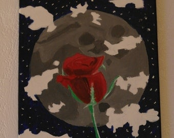 Moonlight Rose - Acryl on Canvas