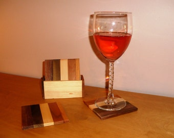 Reclaimed Wood Coasters-Set of 4