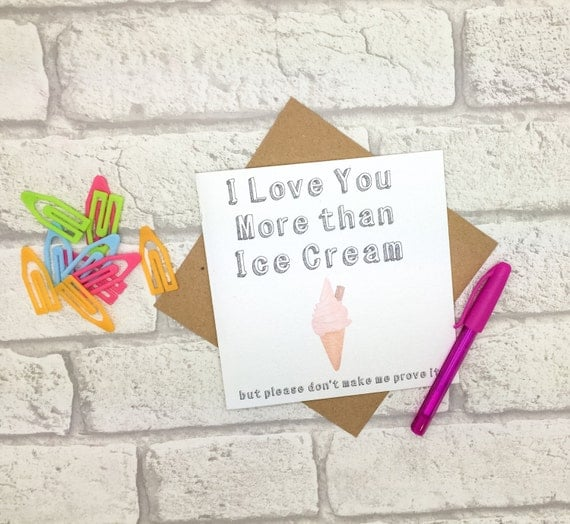 I Love You More Than Ice Cream: I Love You More Than Ice Cream Personalised By In2graphics