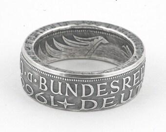 Silber 5 Deutsche Mark Münzring (Silver 5 German Mark Coin Ring)
