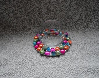 Candle Holder with Colorful Gems