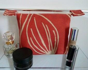 Striking Flame Tulip Design Cosmetics/Make-Up Bag