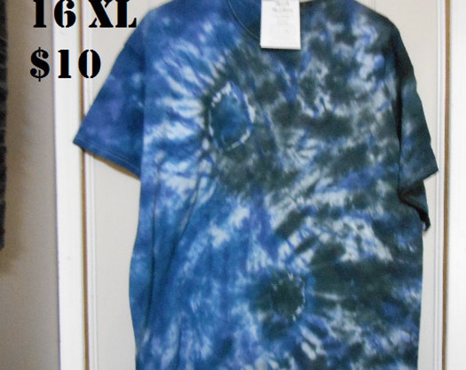 CLEARANCE Tie dye T shirt 100% cotton - MMXLCL16 - size XL