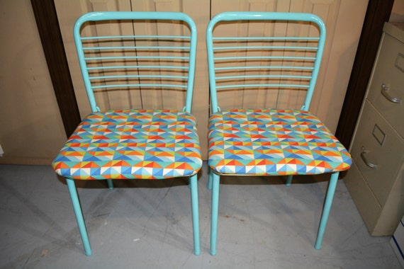 Set Of Two Folding Chairs 1960s Costco Chairs Sky Blue