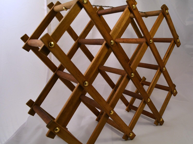 Accordion Wine Rack Wood Wine Rack Vintage Wine Rack