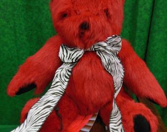 Handmade Real Rabbit Fur Teddy Bear
