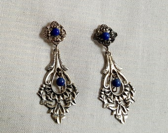 Mexican silver with lapis lazuli earrings