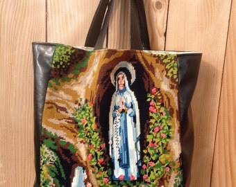 """Bag in canvas """"the Virgin"""""""