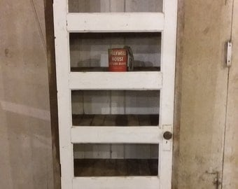 Large Vintage Door Bookshelf