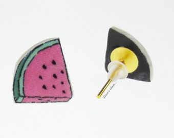 "Earrings ,,Watermelon"" ."