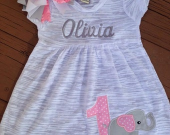Baby Elephant Birthday Dress