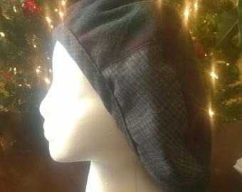 Wool, pieced reversible hat