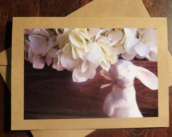 Right Rabbit.  Photo Greeting/Note Card. Blank Inside.