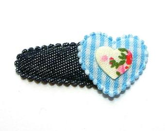 Barrette baby blue heart