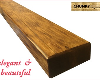 Chunky Floating shelves Reclaimed Pine rustic 7cm thick x 22cm deep