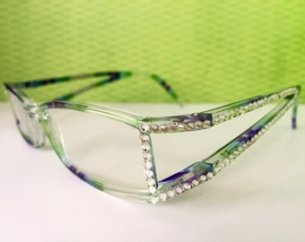 Reading Glasses Made with Swarovski Crystals +2.00
