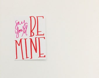 Set of 10 Mini Valentine's Cards