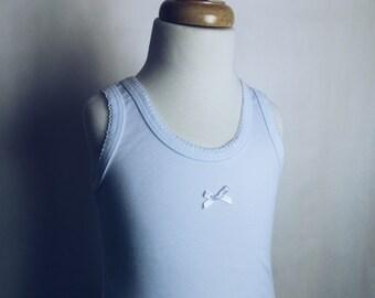 Tank top, white, super soft little Girls Basic - Summer essentials