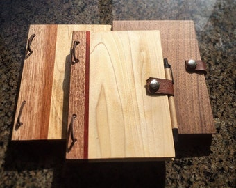 Handmade Notebooks (Wood)