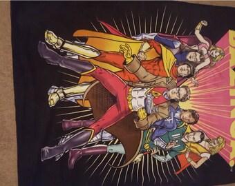 Felt Big Bang Theory Comic Book Superhero Blanket