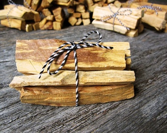 Sustainably Sourced Palo Santo | 7 Stick Bundle | Holy Wood | Natural Incense | Bursera Graveolens | Peruvian | Wildcrafted | About 3 oz.