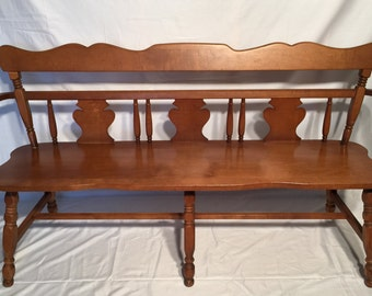 Vintage Colonial Style Bench American Style Antique Style Cottage Chic