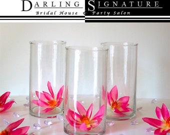 "Glass Centerpieces Wedding 8"" (Set of 10) Flower Vases- Floral Centerpieces, Party Decorations, Candle Holders, Bridal Bouquet Holders"