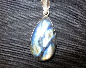 Sterling silver Spectrolite Labradorite Pendant