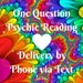 One Question Fast Answers Psychic Reading // Text Reading // 24 hour // Same Day Psychic Reading // Accurate Answers // Divine Guidance