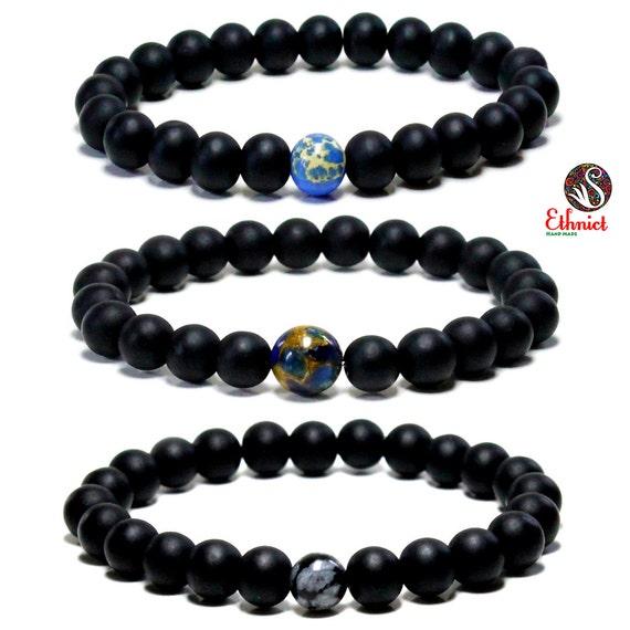 bracelet set mens bracelet bracelet set onyx by
