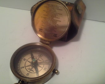 REDUCED..Compass and leather case, queen Victoria