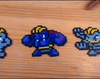 Pokemon Machoc and developments Pixel Art mini Hama beads