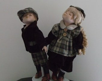 decorative collectible - girl and boy dolls