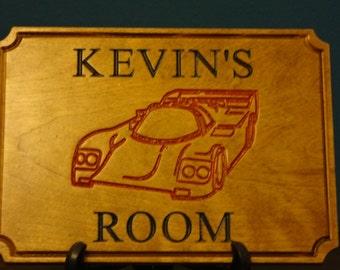 Personalised wooden door sign - Door sign - Personalised Sign - home decor - Children's room sign