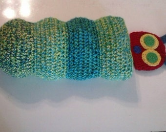Very Hungry Caterpillar crocheted cocoon and hat set
