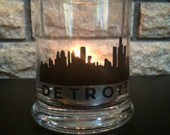 Detroit Skyline Candle Holder