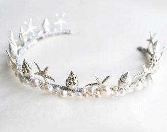 Starfish Shell Bridal Crown