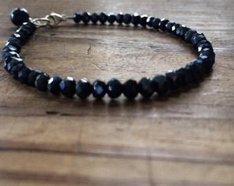 "Indigo Crystal Bracelet 7 1/2"""