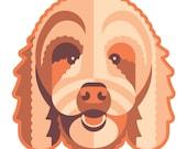 Goldendoodle Die Cut Sticker GD076