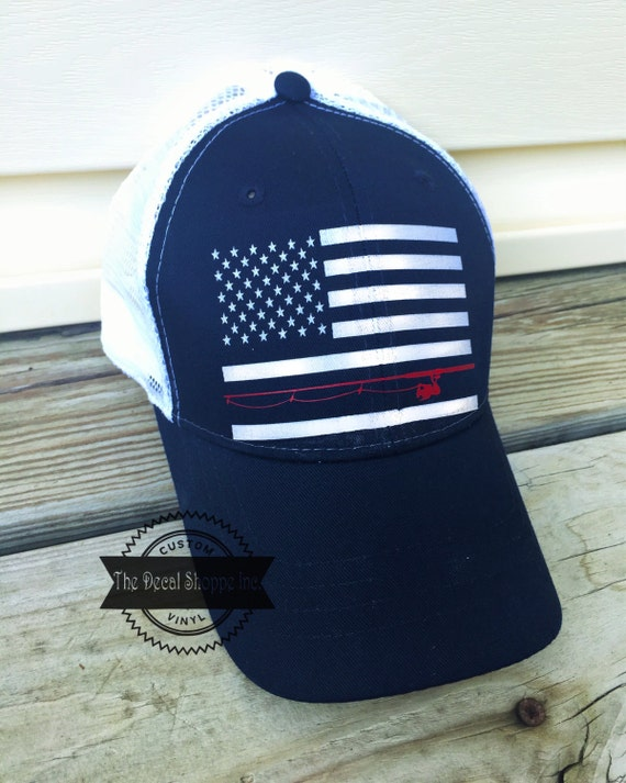 Mens fishing hat american flag fishing hat fathers day gift for American flag fish hat