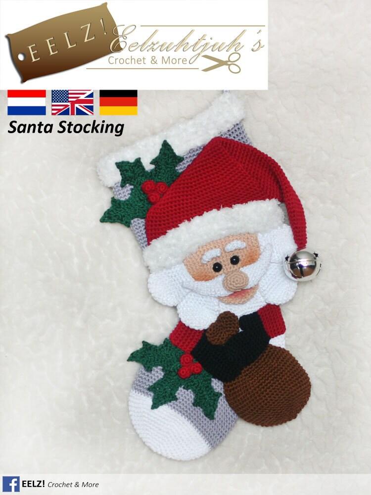 Crochet santa stocking pattern / Active Wholesale
