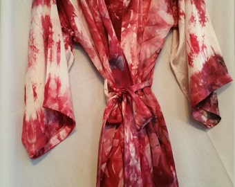 100% Silk Hand dyed Robe