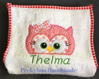 Custom Baby Bath Towel Apron