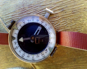 Vintage Compass,Made in Bulgaria,Compass,Cold War Authentic Compass,1960s Compass,Cold War Military Compass,Cold War,Military Compass