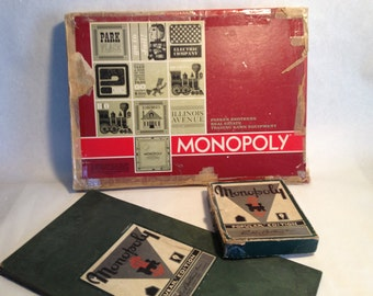 Antique Monopoly Game two for the money 1935 and a 1961