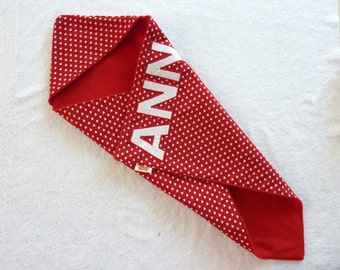 Baby cape/shawl/wrap cloth Anna-red with white hearts (handmade)