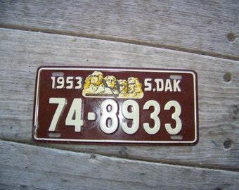 1953 South Dakota Bicycle License Plate