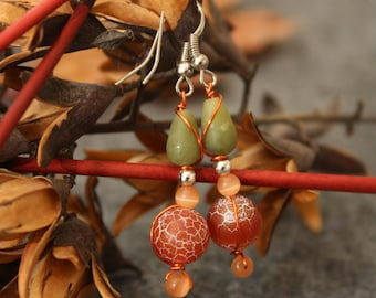 Earring red green