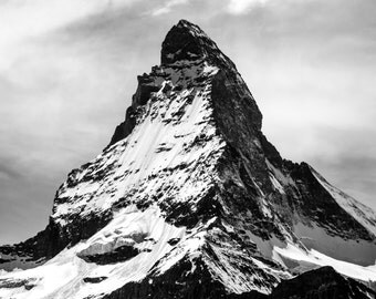 Mountain Photography - Mountain Digital Photo - Black and White - Digital Photo - Digital Download - Instant Download - Fine Art Photography